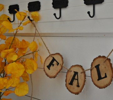 Rustic Fall Wood Slice Banner