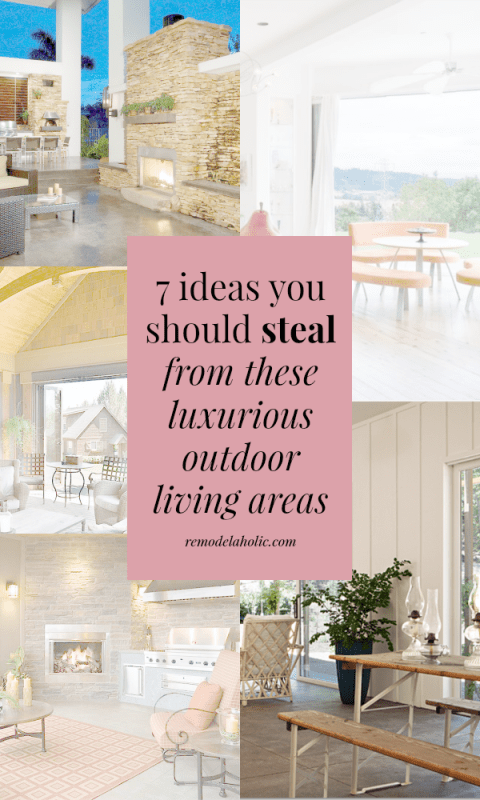 Take some notes from these high-end luxurious outdoor living spaces to create a beautiful and luxurious space, even on a budget.