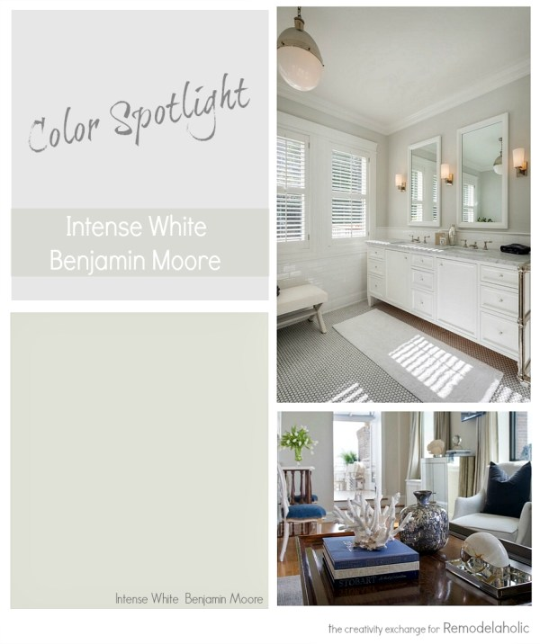 Intense White by Benjamin Moore. Color Spotlight on Remodelaholic