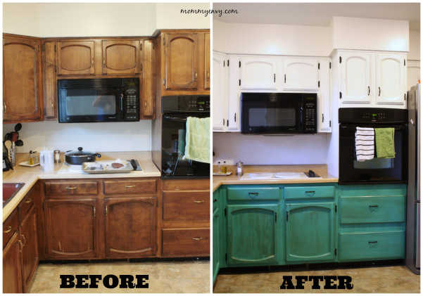 remodelaholic diy refinished and painted cabinet reviews on best paint for kitchen cabinets diy id=14868
