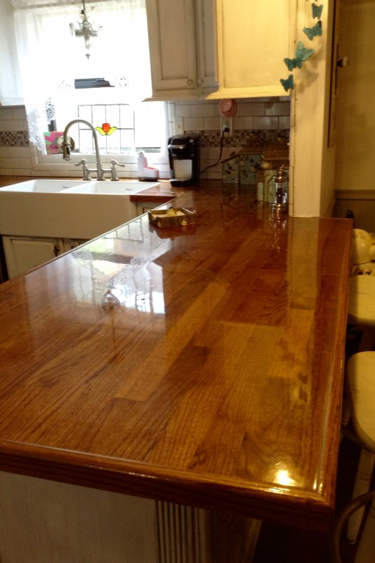 Peggy PJH Designs DIY oak flooring countertop review