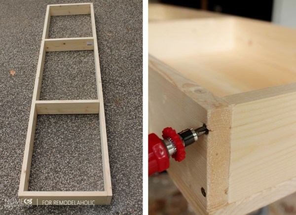 Screw bench frame together - HMC for Remodelaholic