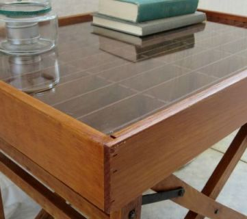 Create a Table from an Old Chair and a Cassette Tape Organizer