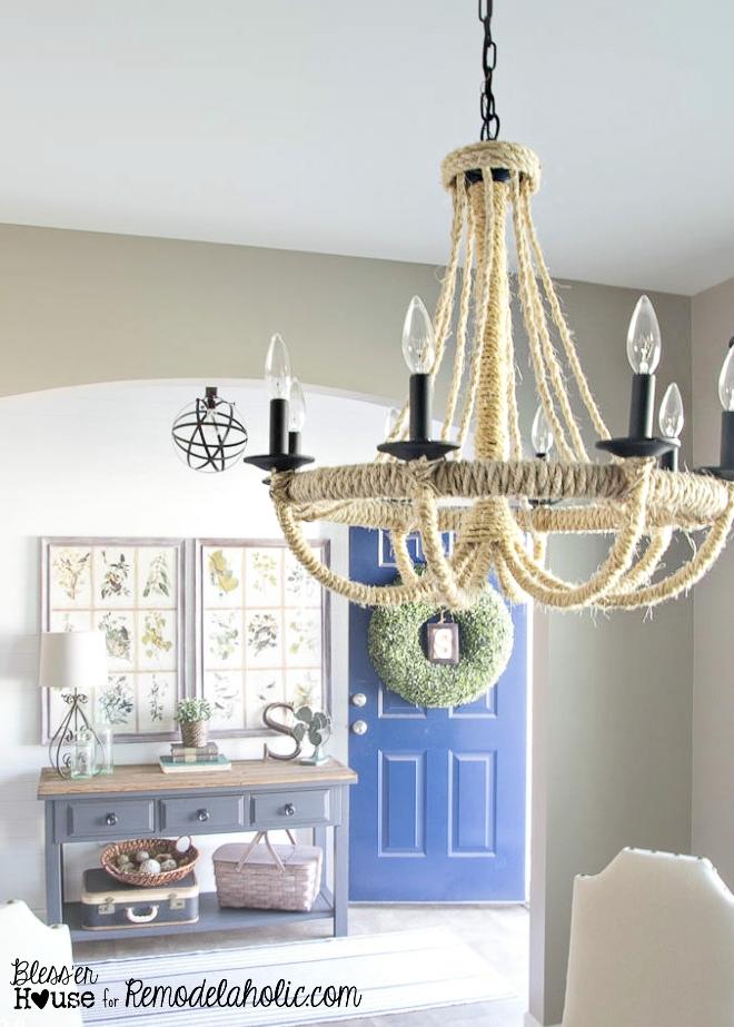 diy rustic chandeliers. Rope Chandelier 16 Remodelaholic  25 Gorgeous DIY Chandeliers