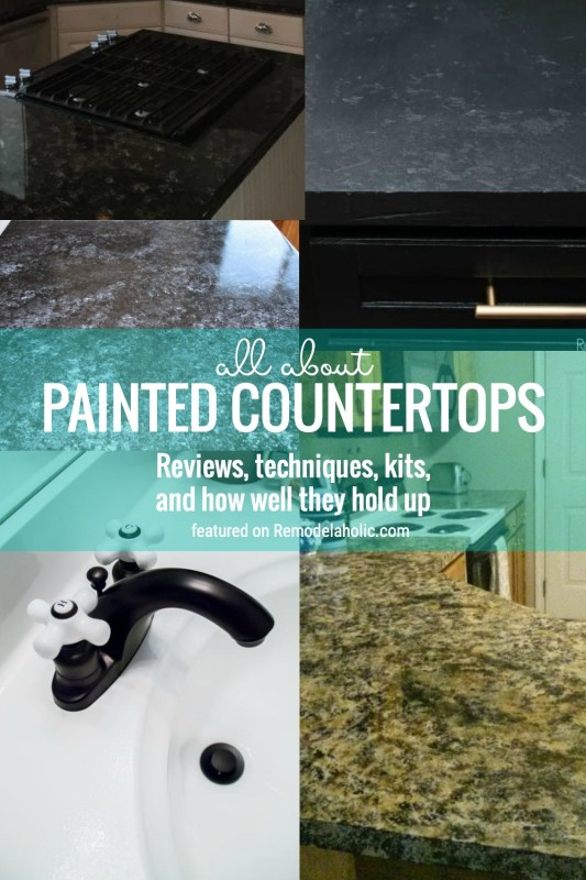 All About Painted Countertops. Reviews, Durability, Kits, Etc. Learn More At Remodelaholic.com