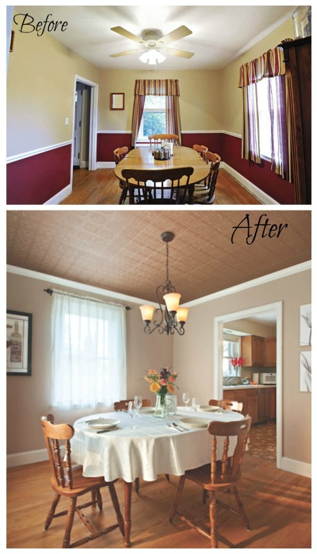 Easy way to give your ceiling character ! Armstrong planked ceiling makeovers