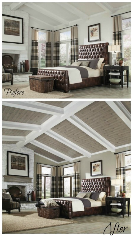 Armstrong planked ceiling makeovers (3 of 3)