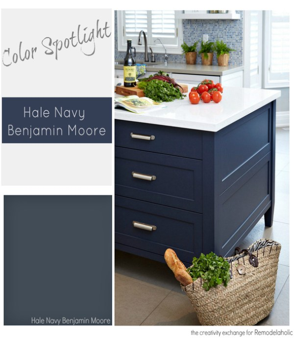 Benjamin Moore Hale Navy. Color Spotlight on Remodelaholic
