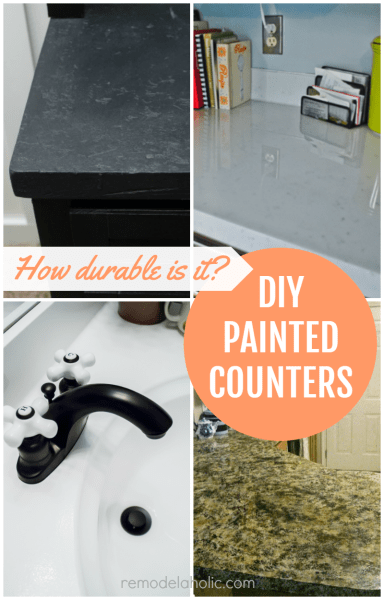 DIY Painted Countertop Reviews @Remodelaholic