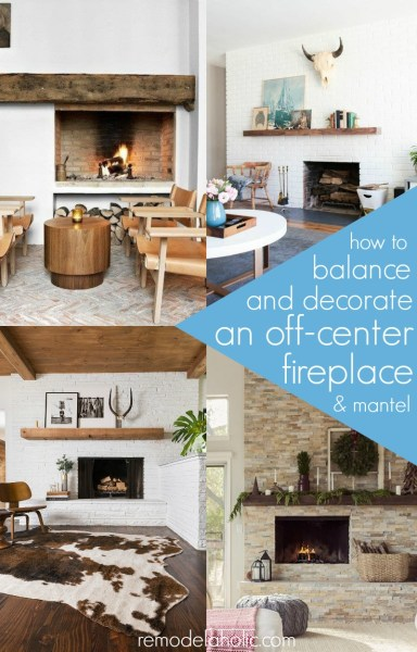 Decorating around an off-center fireplace @Remodelaholic
