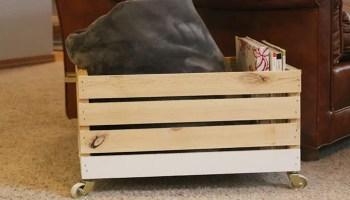remodelaholic diy vintage crate shelf
