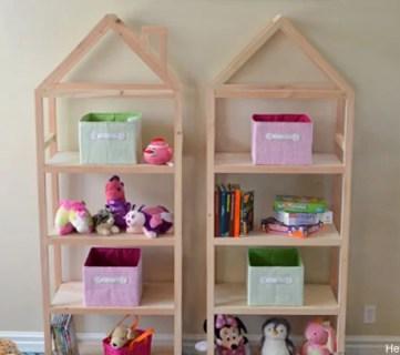 DIY House Frame Bookshelf Plans