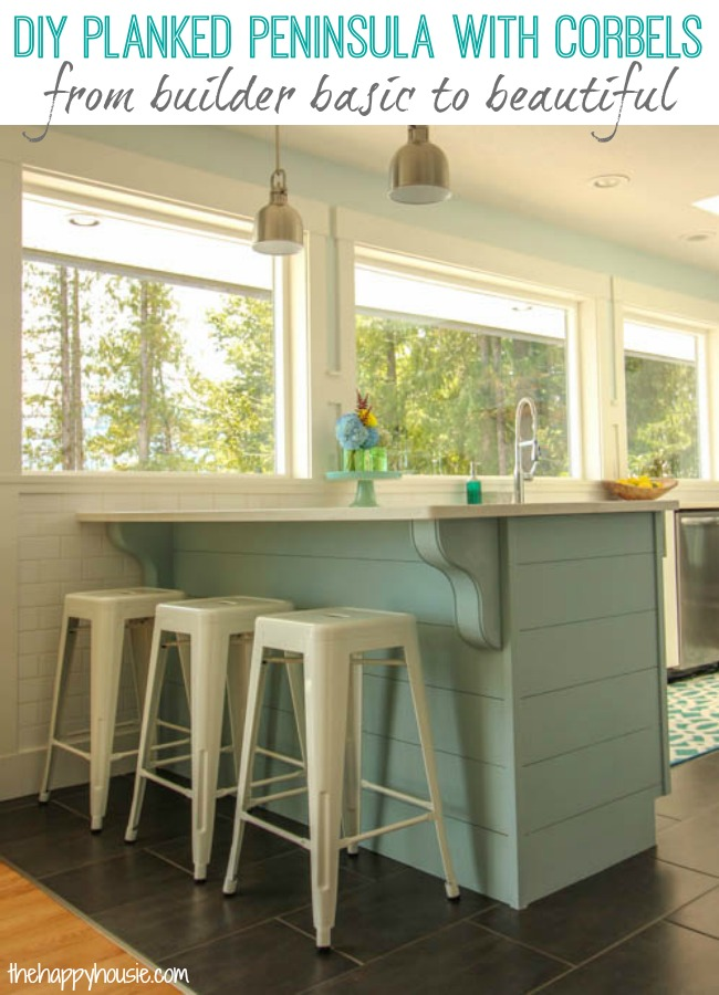 Remodelaholic | Update a Plain Kitchen Island or Peninsula with ...