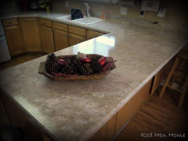 Korrie Red Hen Home Giani granite painted countertop review
