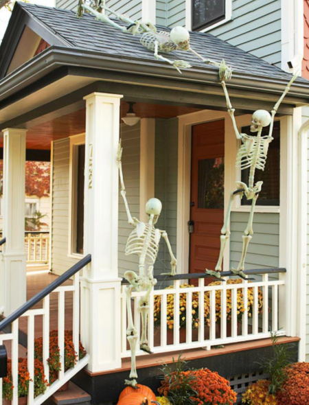 Outdoor Skeleton Decor Ideas Better Homes And Gardnes