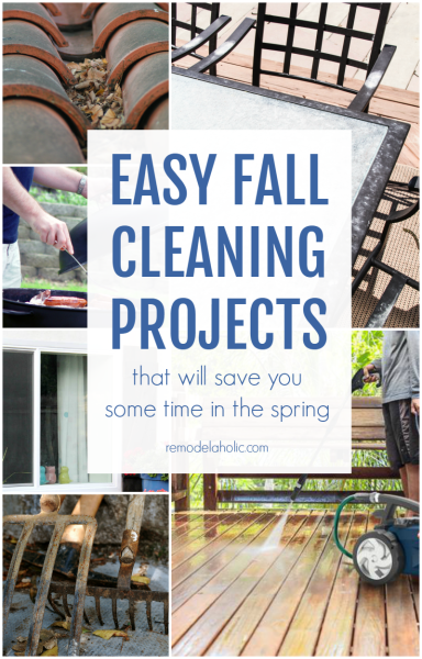 Spend less time spring cleaning when the weather warms up by doing these easy fall cleaning projects now, before the snow flies @Remodelaholic