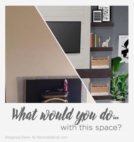 What would you do...? tips for decorating around a non-working off-center fireplace
