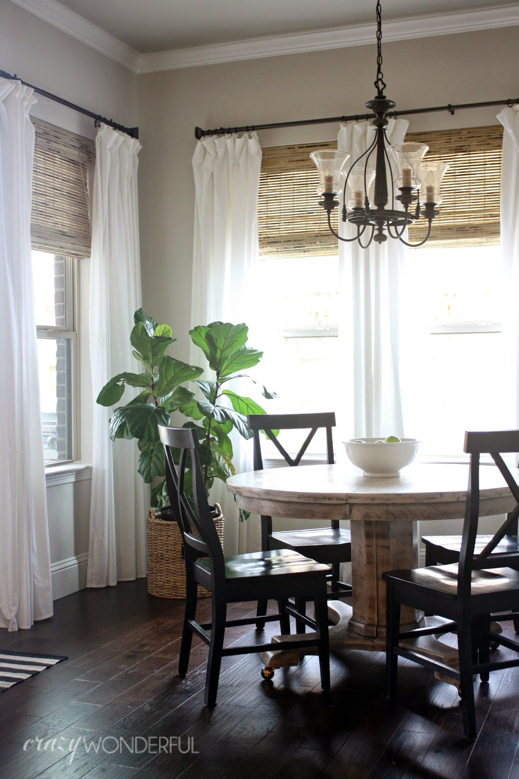 Remodelaholic | 28 Ways to Spruce Up White Curtains on Farmhouse Dining Room Curtain Ideas  id=73237