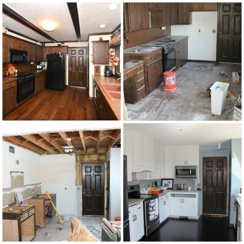before and after kitchen remodel, construction2style on @Remodelaholic