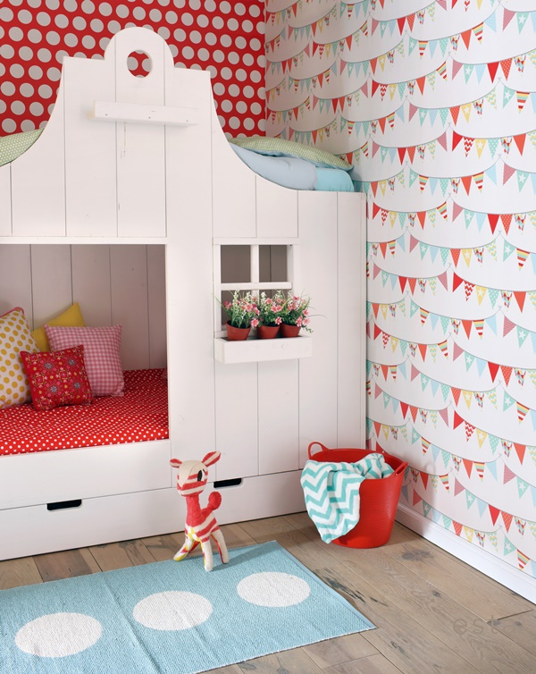 cottage house shaped bunkbed with storage drawers underneath via trendspanarna