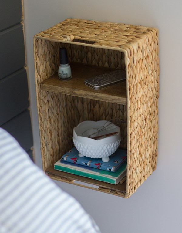diy charging station basket