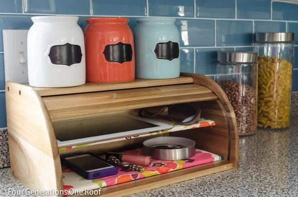 diy charging station bread box