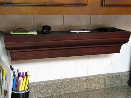 diy charging station wall mount shelf