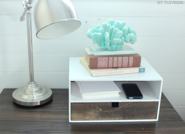 diy charging station wood craft dresser