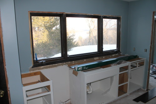 diy kitchen renovation during, construction2style on @Remodelaholic