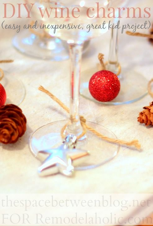 easy diy wine charms