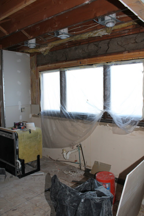 gutted kitchen reno, construction2style on @Remodelaholic