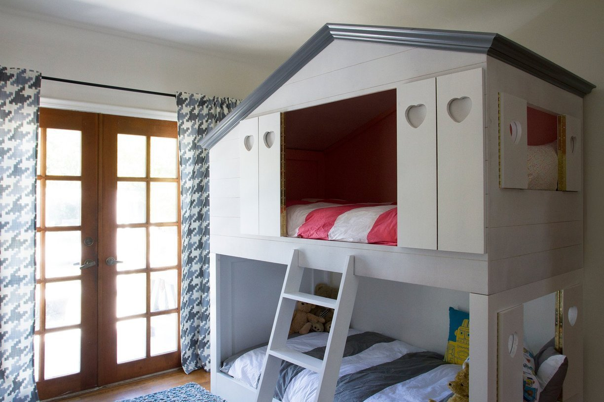 Remodelaholic house shaped beds galore for House shaped wardrobe
