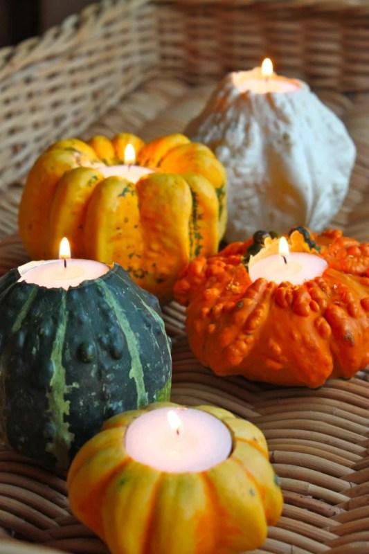 mini gourd candleholders RevelBlog