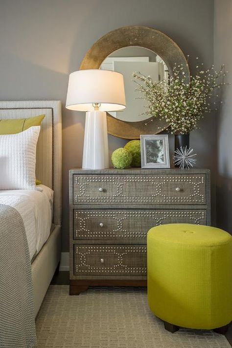 How to Decorate with Neutrals: neutral bedroom with accent color