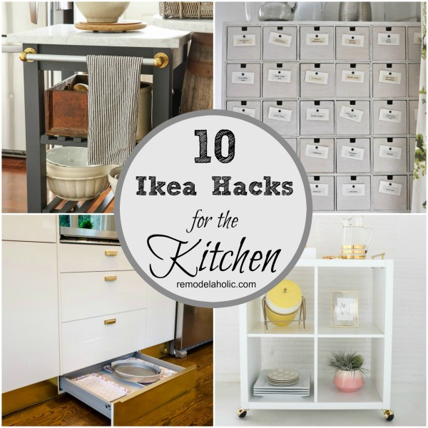 These brilliant IKEA hacks are great for adding storage to the kitchen. From bar carts to pantries to toe-kick drawers, you can hack just about anything!