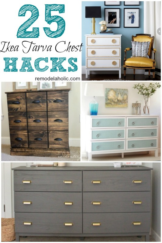 It's hard to beat the inexpensive wood Tarva dresser from IKEA. Dress it up with these 25 Tarva chest hacks for designer looks!