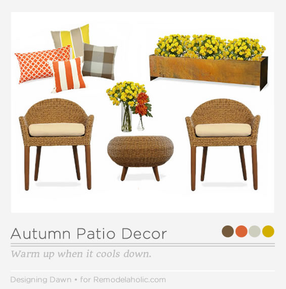 Autumn Patio Pinnable Image _ Designing Dawn for Remodelaholic