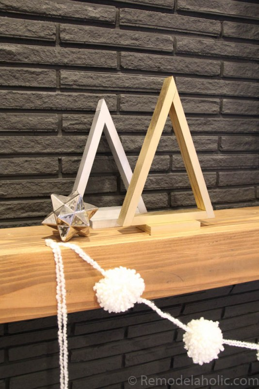 These little triangle trees are perfect for my winter and Christmas decor! Easy to make and in any color you want.