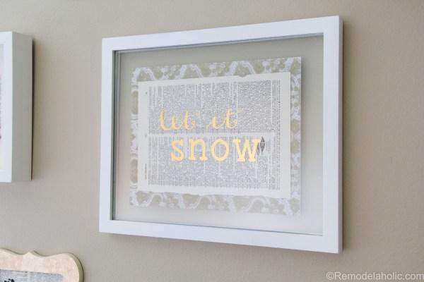 Let It Snow DIY gold foil print + tutorial