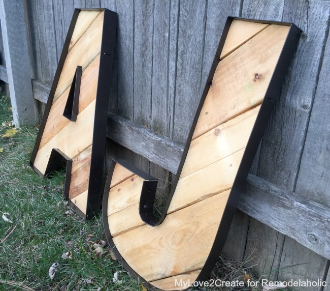 DIY Rustic Industrial decorative letters