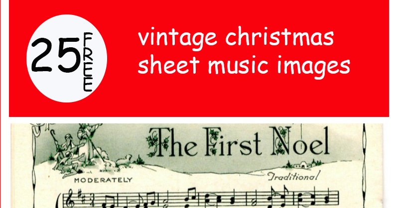 graphic about Vintage Sheet Music Printable identify Remodelaholic 25+ Totally free Printable Typical Xmas Sheet