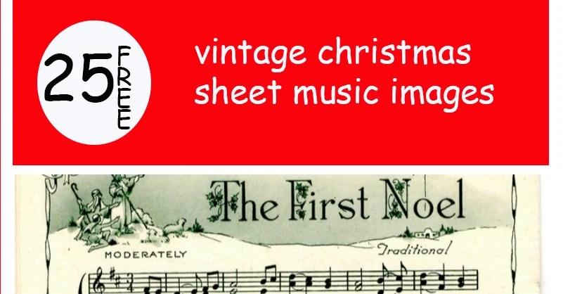 picture regarding Vintage Sheet Music Printable called Remodelaholic 25+ Absolutely free Printable Classic Xmas Sheet