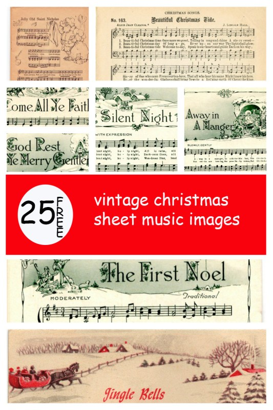 Make Your Holiday Decorating And Gift Giving Easy With These Free Printable Vintage Christmas Sheet Music
