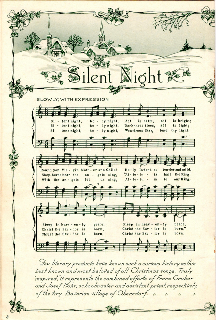 graphic about Free Printable Vintage Christmas Sheet Music identified as free of charge printable basic xmas sheet songs