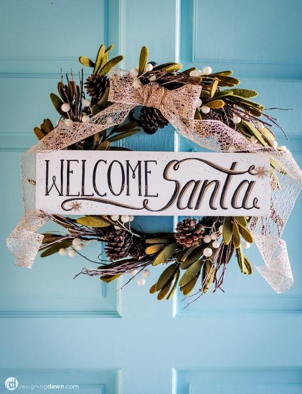 Welcome Santa DIY Sign-3