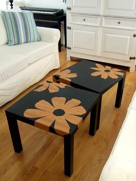bamboo veneer lack side table hack