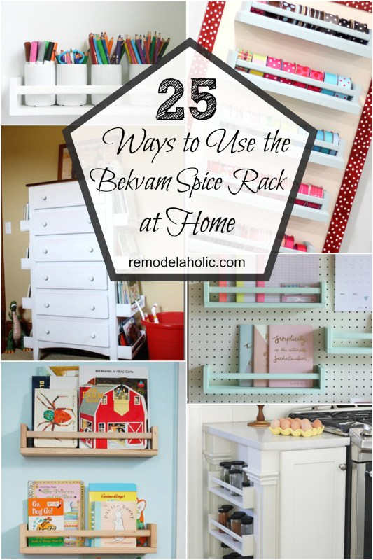 IKEA's versatile Bekvam spice rack can be used for many different purposes! Check out these 25 ways to use IKEA Bekvam spice racks around your home.