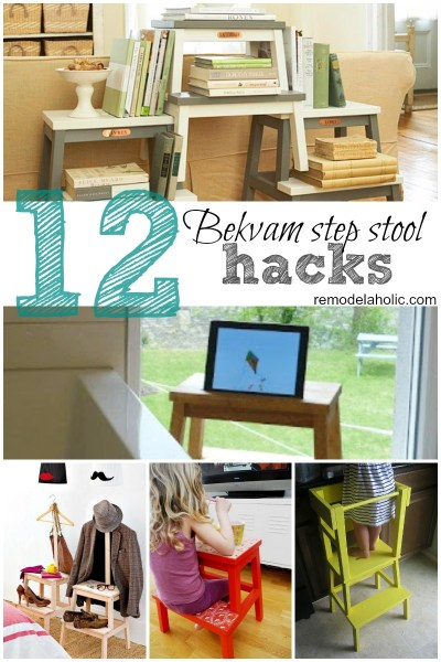 bekvam step stool hacks collage