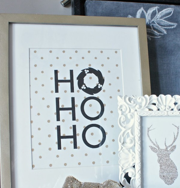 black and gold Christmas art print The Social Home
