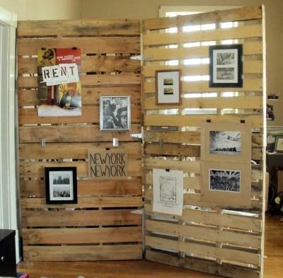 diy room divider wood pallet